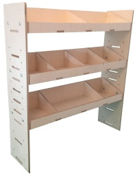 Plywood Van Shelving and Wood Van Racking Storage System 1087mm (H) x 1000mm (W) x 269mm (D) - BVR1010263