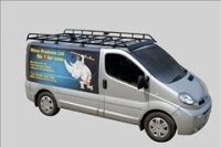 Renault Trafic Pre Oct 2014 Rhino Van Roof Rack Swb Low Roof Twin Rear Door R501