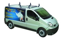 Rhino Delta 3 Bar System - Vauxhall Vivaro 2002-2014 SWB Low Roof (L1H1) Twin Rear Door - MB3DKL